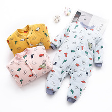 цены Baby Rompers Cotton Winter Jumpsuit for Newborns Babies Long Sleeve Romper Baby Girl Boy Toddler Christmas Clothes