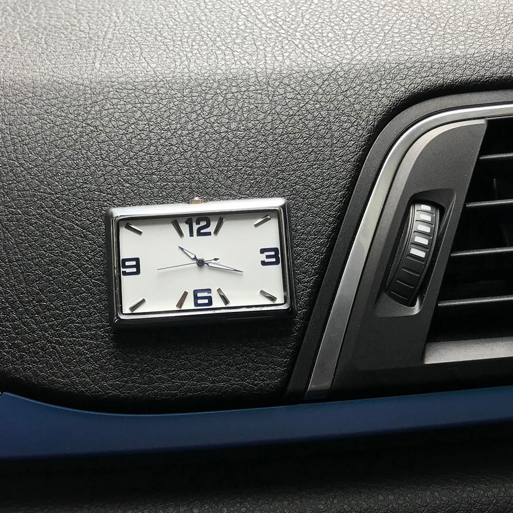 Aluminum Car Dashboard Stick Melon Clock Quartz Clock Car Decoration Watch Jewelry Car Interior Watch Material Car Accessories