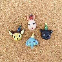 4 Pcs Elephant Cute Cartoon Thumbtacks Push Pin Decoration Cork Board Photo Wall Thumb Tack Diy Pushpins Office Binding Supplies