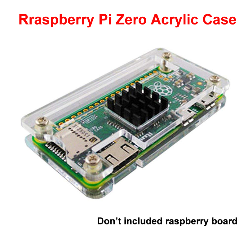 Aokin Raspberry Pi Zero Acrylic Case For Raspberry Pi Zero W With Heatsink Clear Black Blue Enclosure Box For RPI Zero W