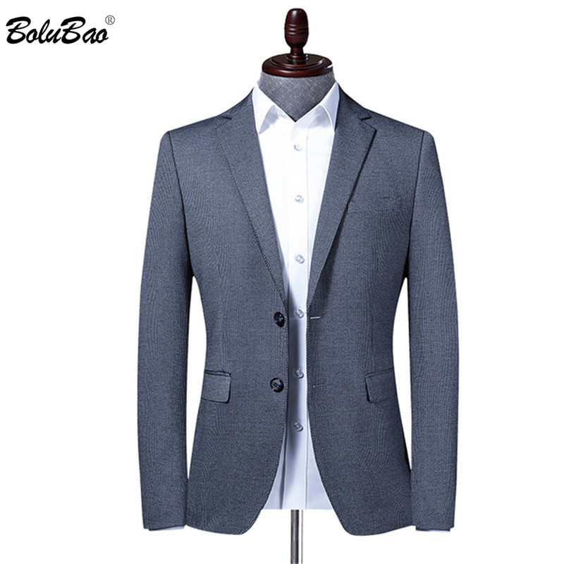 BOLUBAO Brand Men Blazer Men's Slim Fit Turndown Collar Prom Suit Jacket Fashion Office High Quality Business Male Dress Blazers