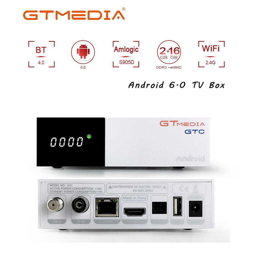 Freesat GTC 4K Android TV Box Receptor DVB-C DVB-S2 DVB-T2 Isdbt Bluetooth Satellite Receiver Support Cccam IPTV M3u TV Box
