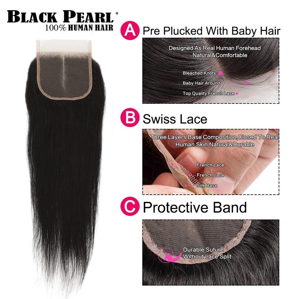 Black Pearl Pre-Colored 3 Bundles - Straight Human Hair 3