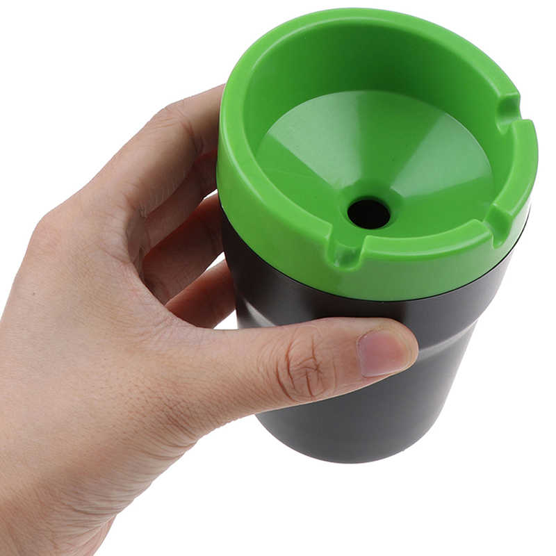 Boîte de rangement organisateur salon maison bureau salle de bain bureau cendriers nouveau ABS voiture cendrier Portable poche cendrier cendrier