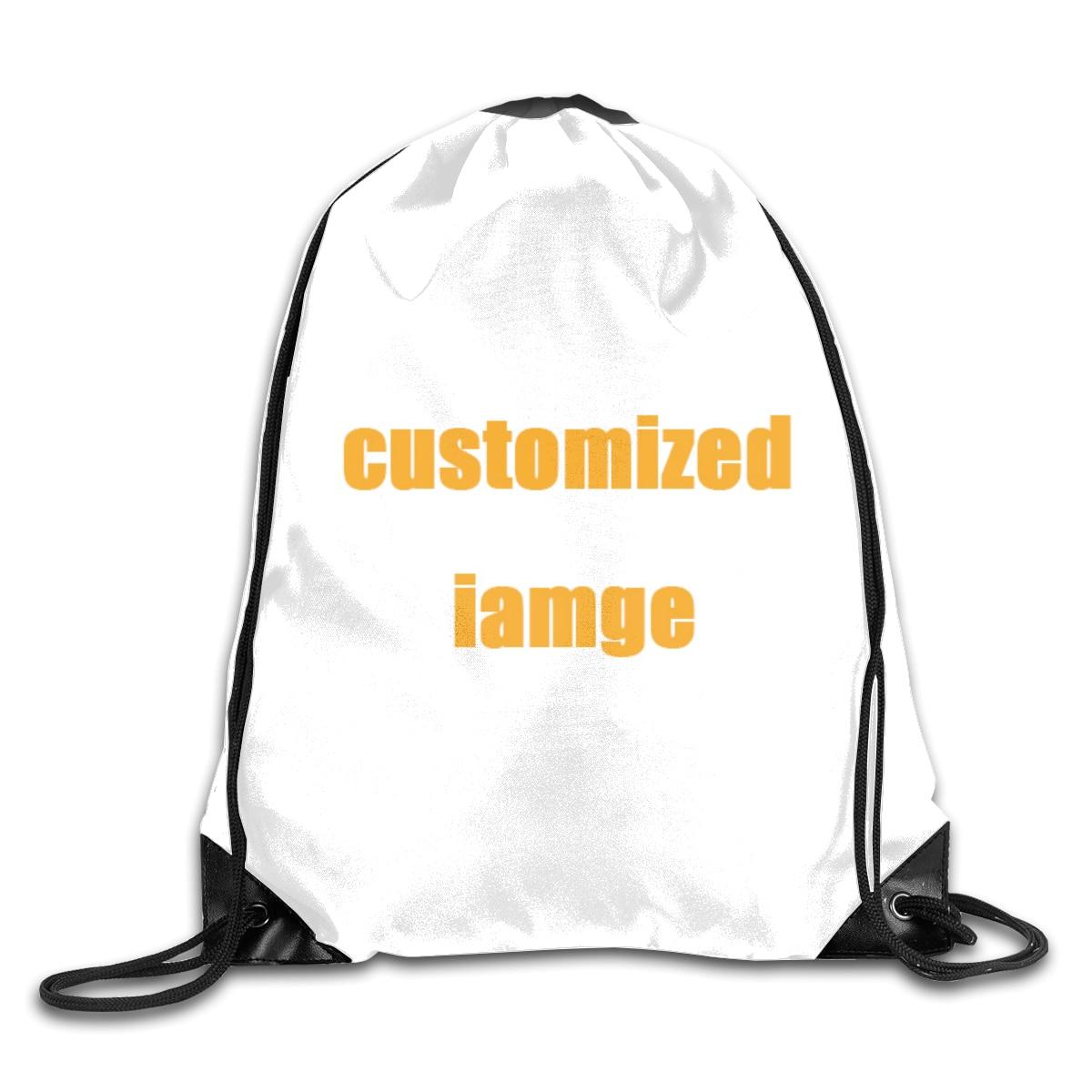 NOISYDESIGNS Customized Backpack School Girls Boys Small Drawstring Bag Custom Print Women's Storage Shoulder Bags Worek Sznurek