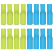 100 Pcs Silicone Straw Tips, Food Grade Reusable Tip Cover for 9mm Stainless Steel