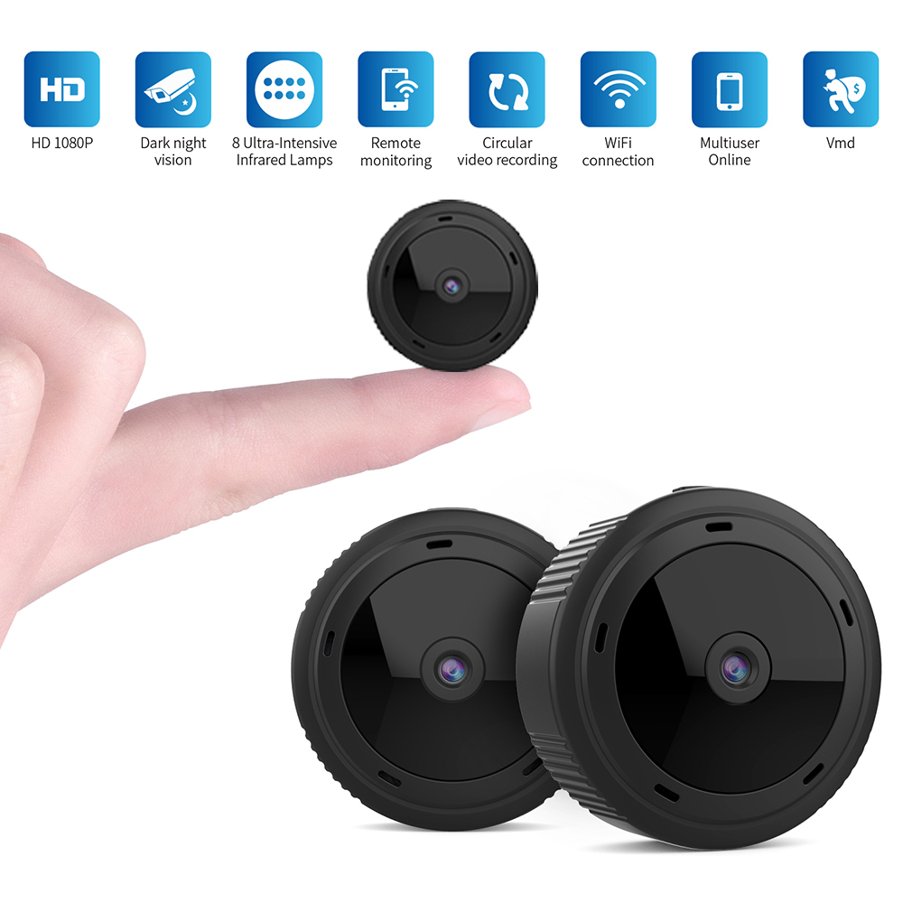 1080P HD Magnetic <font><b>Mini</b></font> <font><b>WIFI</b></font> <font><b>Camera</b></font> with Smart Phone APP Control Round Surveillance IP Cam Night Vision Action Video Recorder image