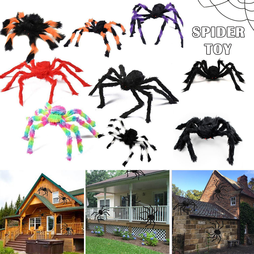 Newly Halloween Spider Decorative Props Halloween Simulation Plush Spider Decorative Props XSD88 in Party DIY Decorations from Home Garden