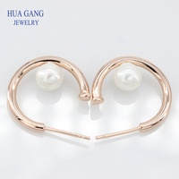 Fashion Charm 925 Sterling Silver Rose gold Pearls Earrings Original Jewelry Charming Women 287528P