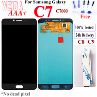 Weida For Original New Samsung Galaxy C7 C8 C9 LCD Display Touch Screen Digitizer Assembly Replacement for C7 C8 C9 LCD