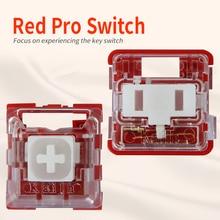 Kailh Box/로우 프로파일 스위치 초콜릿 기계식 키보드 스위치 RGB SMD 흰색 줄기 선형 손 느낌 빨간색 Rro 스위치