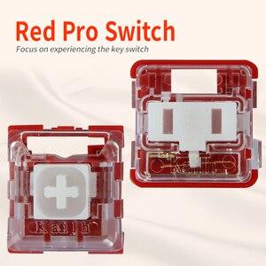 Image 1 - Kailh Box/przełącznik niskoprofilowy czekoladowa mechaniczna klawiatura RGB SMD biała łodyga liniowy ręczny czerwony przełącznik Rro