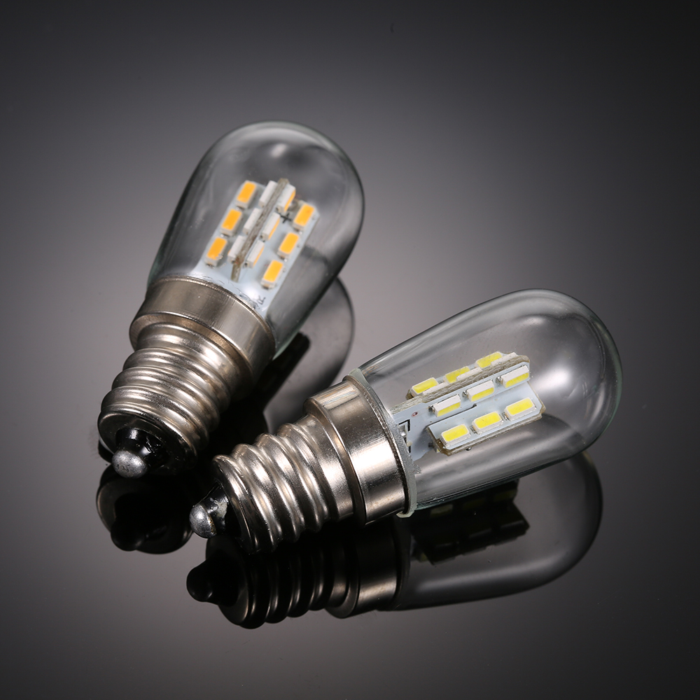 Светильник для холодильника E12, светодиодный светильник, лампа ing, мини-лампа AC110V/220V, яркая лампа для помещения, лампа для холодильника, мороз...