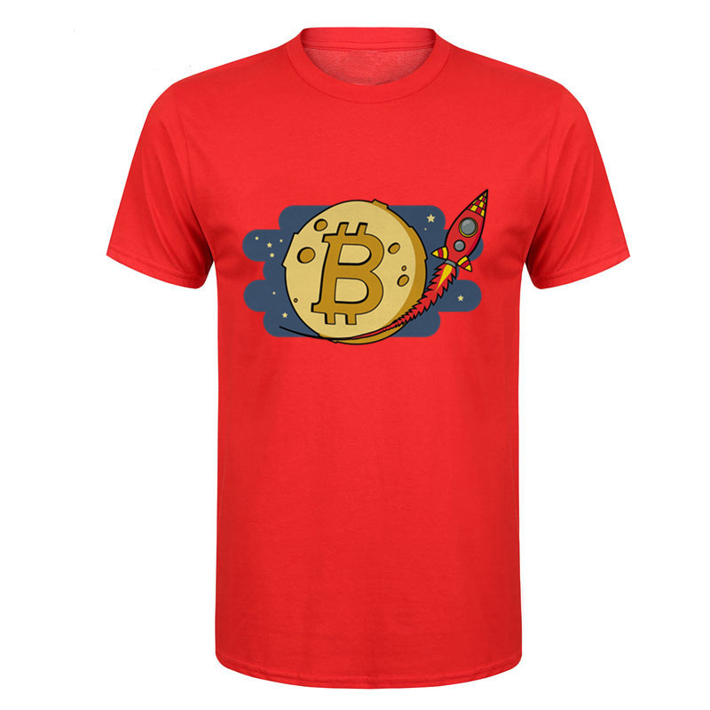 ChampionS Japan Style Men's Bitcoin Speed Revalue Like Rocket T Shirts Male Print T-Shirt Cotton Tshirt Bapes Guccy