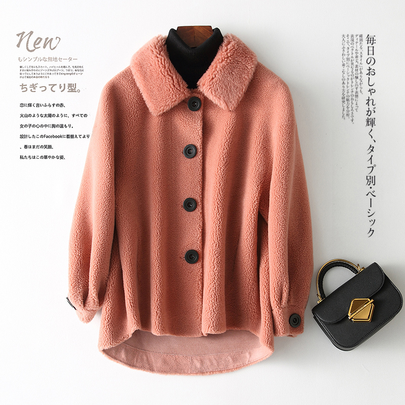 Fur Shearling Sheep Coat Female Real Wool Coat 2020 Autumn Winter Jacket Women Lamb Fur Korean Jackets Chaqueta Mujer MY S