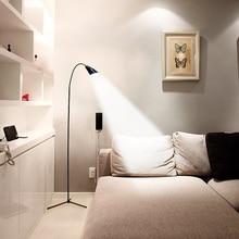 Светодиодный светильник-торшер с гибким гусиным краем, стоящий USB диммер, светильник со стабильным основанием, стоящий светильник для чтения, для офиса, спальни, современный