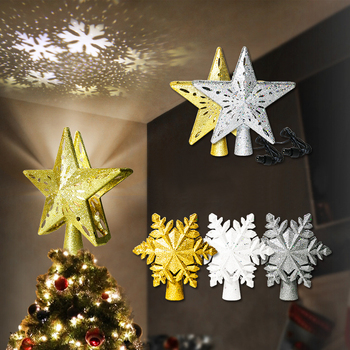 LED Light 3D Christmas Twinkling Star Light Projector Night Light Snowstorm Projection Lighting Lamp Christmas Home Decoration