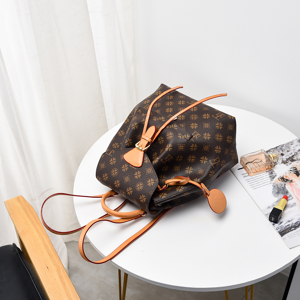 Lfm marca feminina mochila de couro mochilas