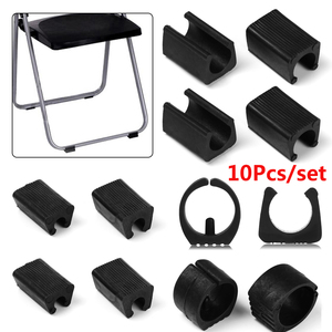 10pcs Chair Leg Pad Damper Stool Anti-Front Tilt Pipe Clamp U Shaped Floor Glides Tubing Caps Durable Tube Rear Pad Floor Protec