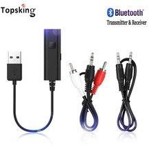Mini 3,5mm Bluetooth Sender Empfänger AUX Stereo Drahtlose Bluetooth Adapter Für Auto Musik Bluetooth Sender TV
