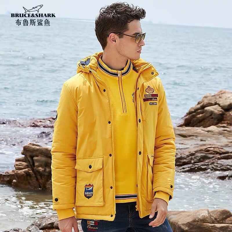 Bruce&Shark Men Jacket Top Quality heavyweight Winter best Embroidery Men Coat Thicker Cotton Male Blouse Fashion Warm big 4XL