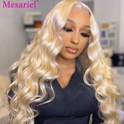 613 Lace Front Wig Human Hair Transparent Lace Wigs Blonde Body Wave Wig Preplucked For Women Remy Lace Frontal 180 density