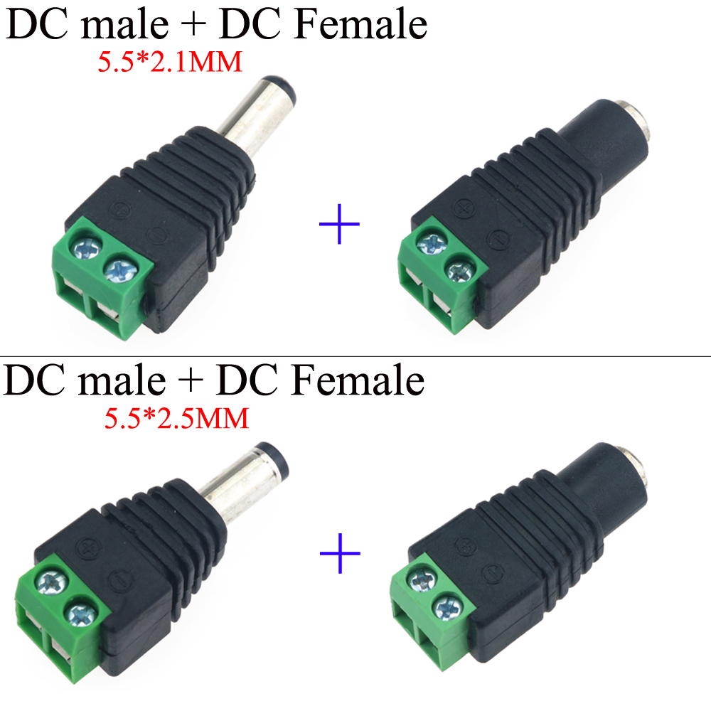 YuXi 1 Pair Coax Cat5 To Bnc <font><b>DC</b></font> Power Male jack plug <font><b>DC</b></font> female Connector plug <font><b>adapter</b></font> Av BNC UTP for CCTV Camera Video Balun image