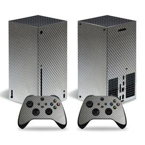 Image 2 - סיבי פחמן מדבקה מכירה לוהטת מדבקת עבור Xbox סדרת X קונסולת מדבקת עור עבור Xbox סדרת X בקר מדבקות
