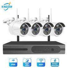 Wheezan камера видеонаблюдения с WiFi безопасности Системы комплект 4CH 1080 P NVR жесткий диск на 1 ТБ 720 P Беспроводной Камера домашняя камера видеонаблюдения, наружная ip камера комплект
