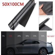 Профессиональная Тонировочная пленка для автомобиля, офиса, дома, Тонировочная пленка, комплект, темно-черный дым, 15%, 1 м X 50 см