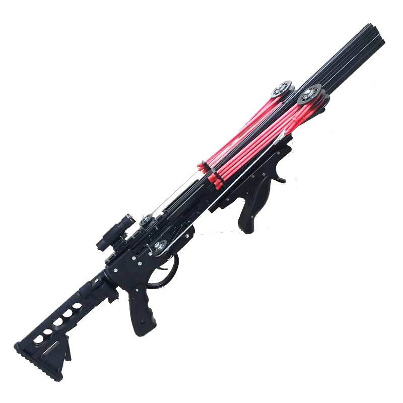 Fire Dragon G5 Semi Automatic Slingshot Hunting Fishing Crossbow Catapult Multifunction Steel Ball Ammo Arrow Continous Shooting-3