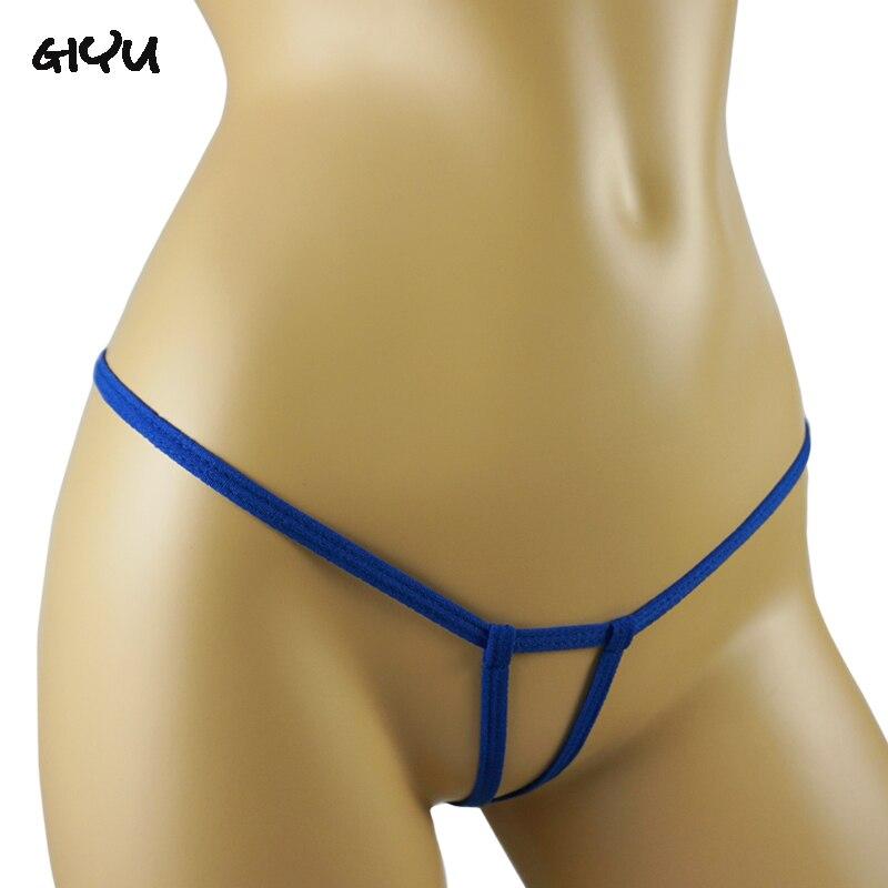Woman Open Crotch Panties Cord Crotchless Panties Chastity Thongs Sexy Underwear Mini Micro Bikini G Strings Sex Lingerie Femme