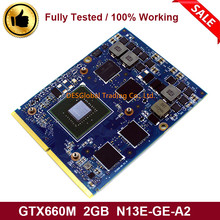 Original GTX 660M GTX660M 2GB Grafik Video VGA GPU Karte Für DELL M15X M17X M18X N13E-GE-A2 Arbeits Perfekt schnelle Versand