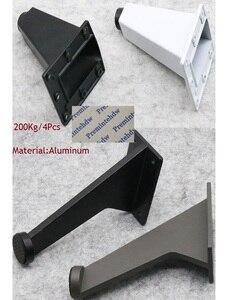 Image 1 - 4 ชิ้น/ล็อตสำนักงานเอียงอลูมิเนียมฟุตสำนักงานตู้เฟอร์นิเจอร์ Commercial ขาสีขาวเหล็กสีดำสีเทา