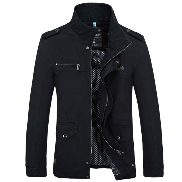 Brand Men Jacket Coats Fashion Trench Coat New Autumn Casual Silm Fit Overcoat Black Bomber Jacket Male long jacket Men M-5XL 1