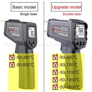 Image 2 - Digital Infrared Thermometer  50~380/550/750/1100/1300/1600 degree Single/Double laser Non Contact Thermometer Gun thermometer