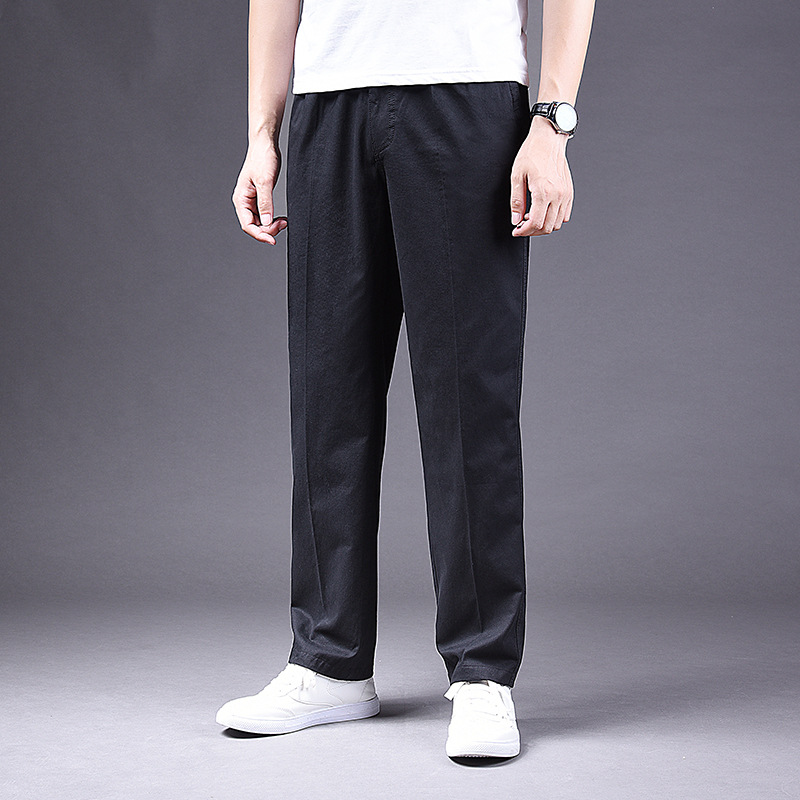 Spring And Autumn Men's Casual Trousers Straight Loose Large Size Tooling Trousers Cotton Washed Pants Men