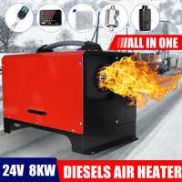 Tout en un 8KW 12 V/24 V voiture outil de chauffage LCD moniteur Parking plus chaud Diesels réchauffeur d'air monotrou pour camion Bus bateau RV