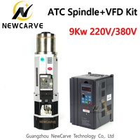 9KW ATC Spindle Kit Air Cooled ISO30 Automatic Tool Changer Spindle Motor And FULING VFD Frequency Inverter 220V 380V NEWCARVE
