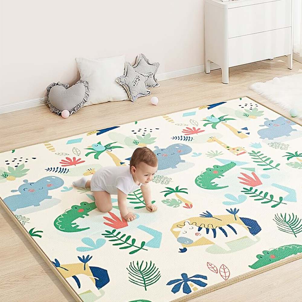 Утолщенный детский игровой коврик 1 см XPE, игрушки для детей, игровой коврик, развивающий коврик, детская комната, коврик для ползания, складн...