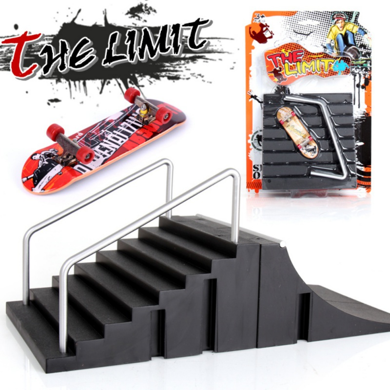 Dropship Training Games Finger Skating Board With Ramp Parts Track Mini Skateboard Toys Professional Fingerboard  Kids Toys Gift