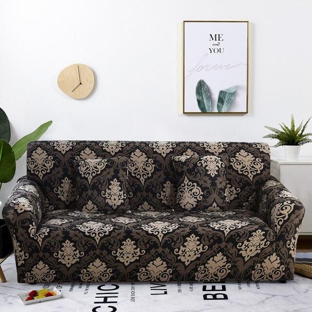 Capa de sofá apertada, capa de sofá com elástico para cobrir, cobertura de sofá para sala de estar, 1 peça sofá