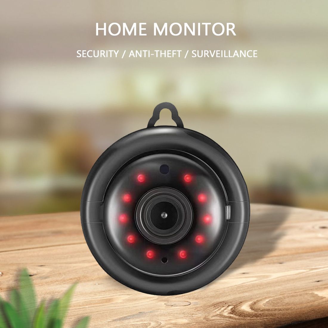 V380 Mini Wifi Camera 1080P IP Camera Wireless CCTV Infrared Night Vision Motion Detection 2-Way Audio Home Security With Stand