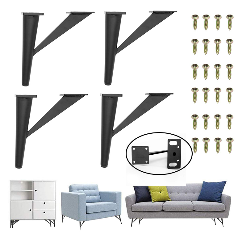 4Pcs 6inch Furniture Legs Metal Sofa Legs Tree-Shaped Table Legs Replacement Legs For Cabinet Vanity Couch Chair Dresser