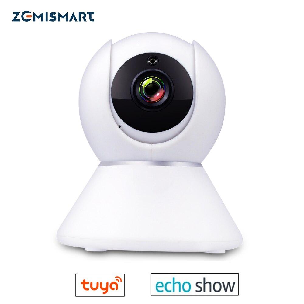 Tuya WiFi Echo Show CCTV Cámara 1080P interviene estándar ONVIF alarma de seguridad para el hogar inteligente 2019 nuevo Detector de humo WIFI Tuya APP Sensor de alarma de incendios alarma de humo independiente protección Android