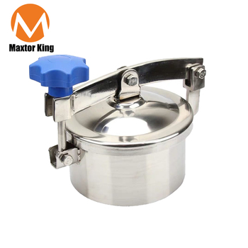 MK 400-600mm Non-pressure Round Manhole Cover Sanitary Manway Door SS304 Stainless Steel