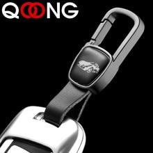 Genuine Leather Key Smart Wallet DIY Car Keychain EDC Pocket Holder Keys Organizer Metal Auto Chain Ring For Men Women