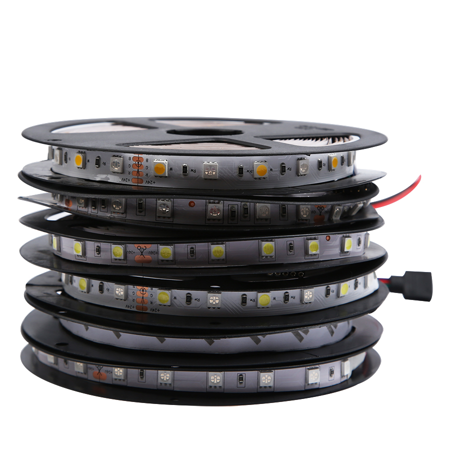 LED Strip Light 5050 24V RGB RGBW RGBWW 24 V 5 M Waterproof Flexible 60LED/M Led Strip RGBW 24V RGBWW Tape Lamp Ribbon Backlight