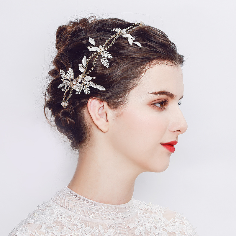 Rhinestone Flower Headdress Headbands Hair Ornaments Leaves For Women Girl Headpiece Wedding Hair Accessories Gifts TS141