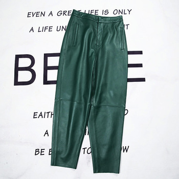2020 Women Spring Genuine Real Sheep Leather Pants E54 2020 women spring genuine real sheep leather pants e54